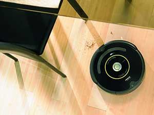 Der Roomba 650 saugt zuverlässig